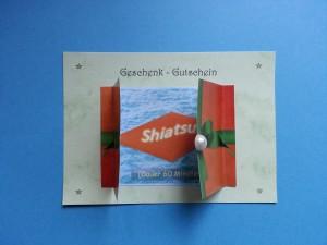 Shiatsu Geschenk-Gutschein Geöffnet